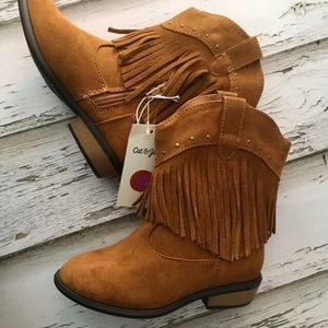 Wonder Nation Child Youth Girl Boy Cowboy Cowgirl Boots Shoes Size 2 Brown